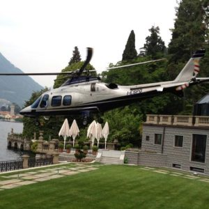 An exclusive flight by helicopter over Lake Como