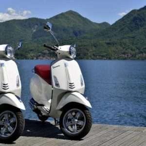 Vespa scooter on Lake Maggiore