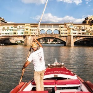 Boat trip along Arno river, Florence