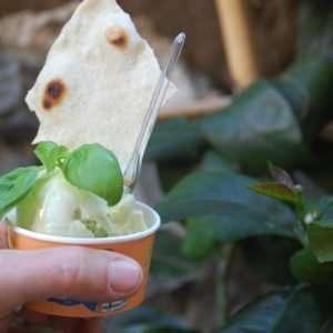 Gelato al basilico, Cinque Terre - food tour